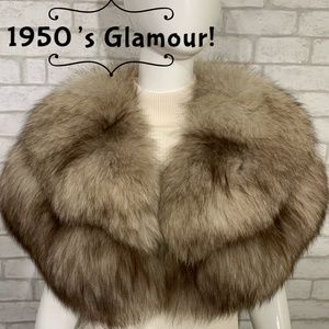 Martha Weathered Vintage/Antique 1950's fur stole